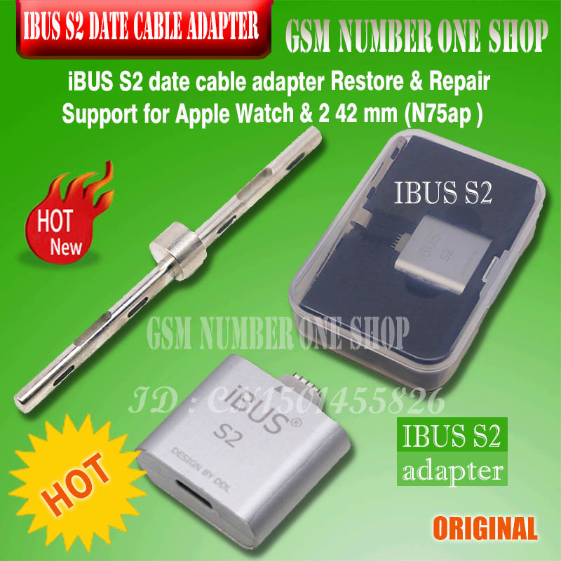 IBUS S1 IBUS S2 Date Cable Adapter Restore & Repair Support For Apple Watch Series 1 & 2 38 Mm (N74ap), 42 Mm (N75ap )
