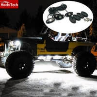 HochiTech single color Under car body light LED Rock Light waterproof for jeep Wrangler Compass Cherokee Renegade rand Cherokee