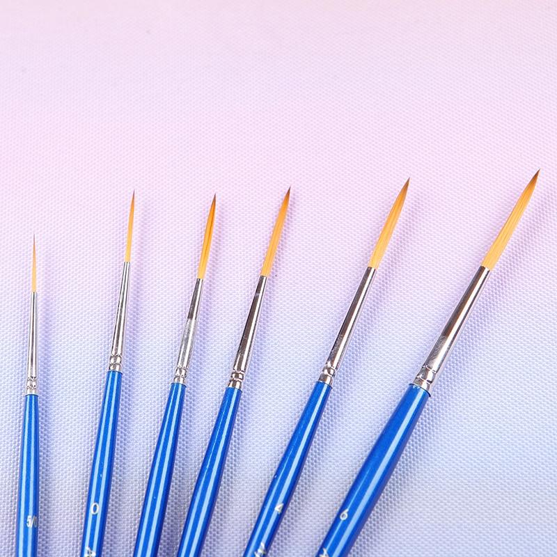 152 liner Korean importing synthetic hair wooden handle brass ferrule art supplies artist paint brush