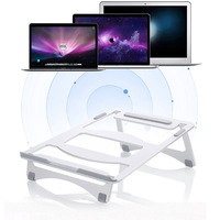Desktop aluminum laptop stand computer cooling stand adjustable height computer stand