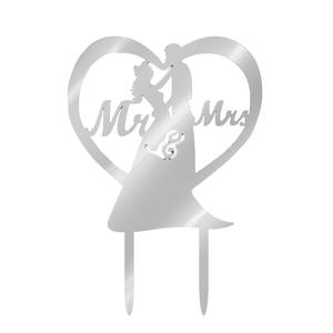 Image 5 - Décoration de gâteau romantique en acrylique m. Mme m. Mme, accessoire de gâteau de mariage, fournitures de fête, 2020