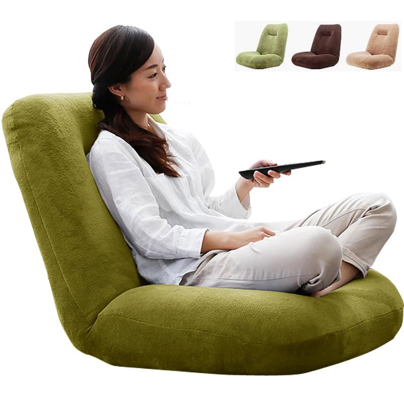 Japanese Floor Chair Folding Adjustable Lazy Sofa Chair Furniture Bedroom Living Room Playroom Balcony Adjustable Gaming Chair