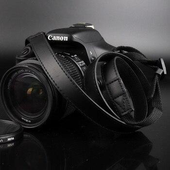 Cuero de la PU correa de cámara para hombro cuello correa para Canon EOS M100 M50 M10 M6 M5 M3 M Powershot G5 x SX540 SX530 SX520 SX510 SX500