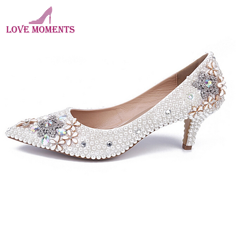 Middle Heel Comfortable Shoes Pointed Toe Party Prom SHoes Elegant Bridesmaid Shoes 2 Inches Women Shoes Free Shipping middle heel silver color wedding shoes glitter women comfortable party prom shoes plus size 43 in stock bridesmaid shoes