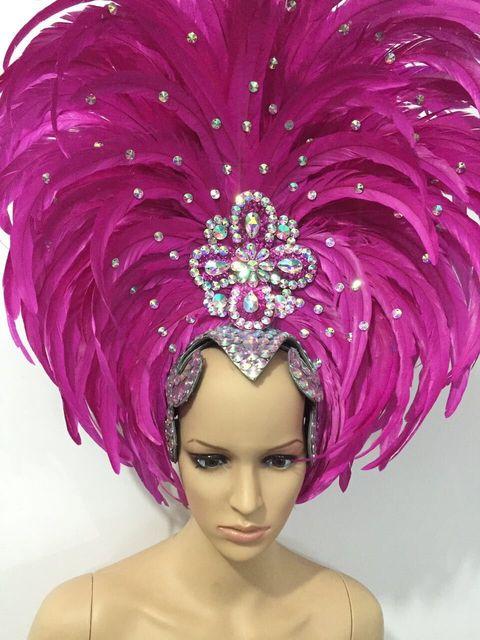 羽の服ステージパフォーマンスキャットウォークカーニバル頭飾り花パブパーティー紳士服婦人服