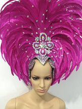 Featherประสิทธิภาพเสื้อผ้าCatwalk Carnival Headdressดอกไม้ผับปาร์ตี้ชายสวมเสื้อผ้าสตรี