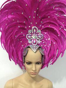 Image 1 - Lông Vũ Quần Áo Diễn Sân Khấu Sàn Diễn Carnival Mũ Đội Đầu Hoa Quán Rượu Đảng Nam Nữ