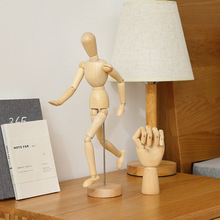 Creative wood human joint hand model home living room decoration crafts wooden ornaments