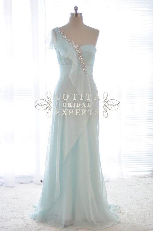 free shipping robe de soiree 2018 real photo vestido de festa one shoulder long woman party prom gown Bridesmaid Dresses