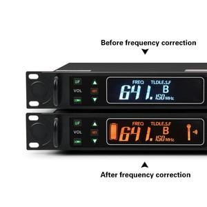 Image 3 - Eyk EU 62真の多様性2ハンドヘルドuhfワイヤレスマイク2*100チャンネル選択可能な周波数最適ステージボーカルコンサート