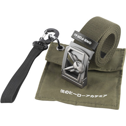 Animation Canvas Belt Anime Boku no MY HERO ACADEMIA Iron head Belt +Bag cosplay prop in stock free shipping NEW
