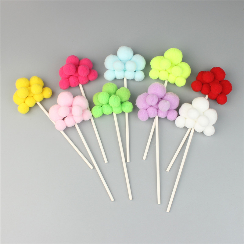 9pcs lot Beautiful Mix Colors Flaky Clouds Shape Cake Topper for Wedding Birthday Baby Shower Party Cake Decorative Supplies in Cake Decorating Supplies from Home Garden