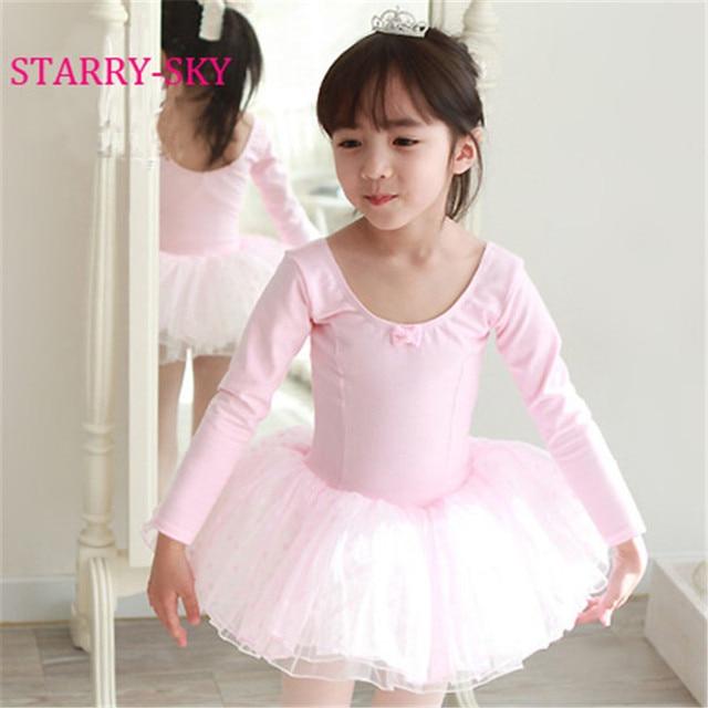 2b9550ec8230 Hot Kid Girls Long Sleeve Ballet Dance Dress Children Girl Ballet ...