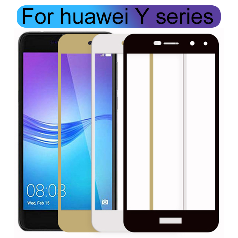 Tempered Glass For Huawei Y3 Y5 Y6 Y7 Y9 2017 Prime 2018 Case Protective Glas On Honor Y 3 5 6 7 9 3y 5y 6y 7y 9y 9H Cover Film