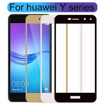 Tempered Glass For Huawei Y3 Y5 Y6 Y7 Y9 2017 Prime 2018 Case Protective Glas On Honor Y 3 5 6 7 9 3y 5y 6y 7y 9y 9H Cover Film image