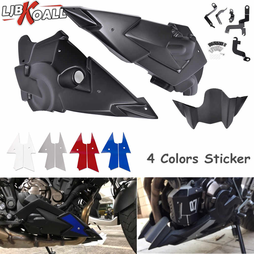 Engine Spoiler Belly Pan Side Fairing For Yamaha Mt 07 Mt07 Fz07 Fz 07 2014 2015 2016 2017 2018 2019 Motorcycle Accessories Covers Ornamental Mouldings Aliexpress