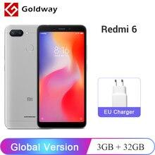 Küresel Sürüm Xiaomi Redmi 6 3 GB RAM 32 GB ROM Cep Telefonu Helio P22 Octa Çekirdek CPU 12MP + 5MP Çift Kameralar 5.45
