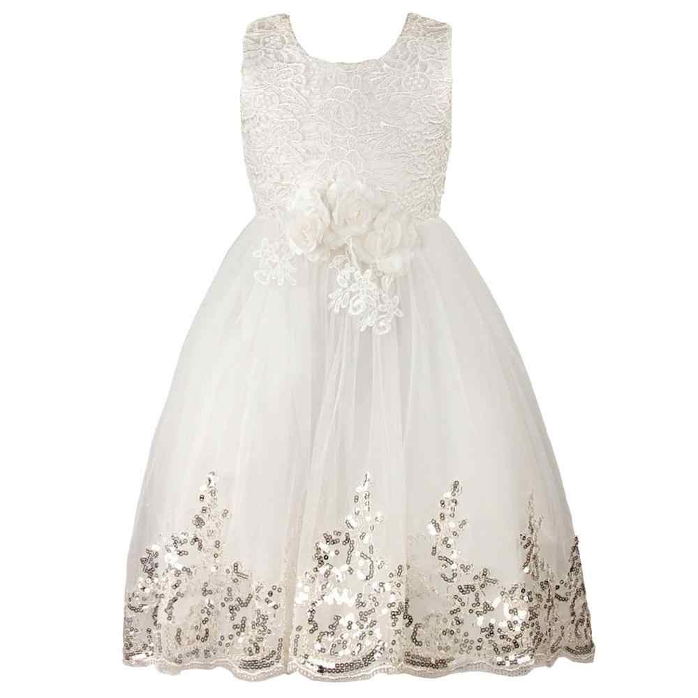 Платье для девочек нарядная детская одежда-пачка с цветочным рисунком элегантное ручное Бисероплетение, платья для девочек, вечерние платья принцессы для детей от 2 до 10 лет
