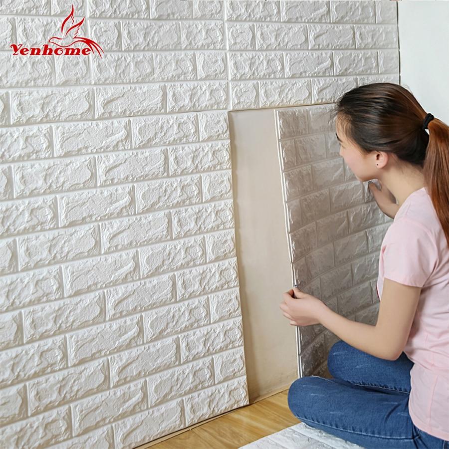 70cmX77cm PE Foam Decorative 3D Sticker Self Adhesive Wallpaper DIY Brick Living Room Kids Safty ...