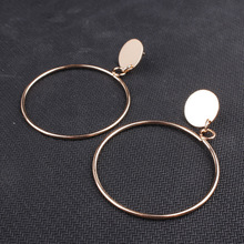 Gold Color Hollow Round Earring for Women Big Circle  Sweet Simple Earring Mother's Day Gift 2018 The New