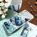 Caseier arte emboss impresso relief phone case para iphone 7 7 plus 6 6 s plus 5S se samsung galaxy s7 s6 edge ultra fino cobrir