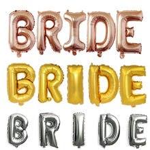 32 polegada rosa ouro da noiva letra folha balões decorações de casamento prata noiva alfabeto balão de ar para o casamento da noiva ballon