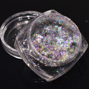 Image 5 - 1 bottle 0.2g Aurora Chameleon Nail Sequins Paillette DIY Thin Dazzling Mirror Effect Manicure Tools Nail Art Glitter TRBSZ02