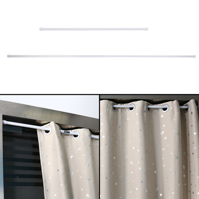 Nice Extendable Spring Telescopic Shower Bathroom Window Curtain Rail Loaded Pole  Rod 105 200cm