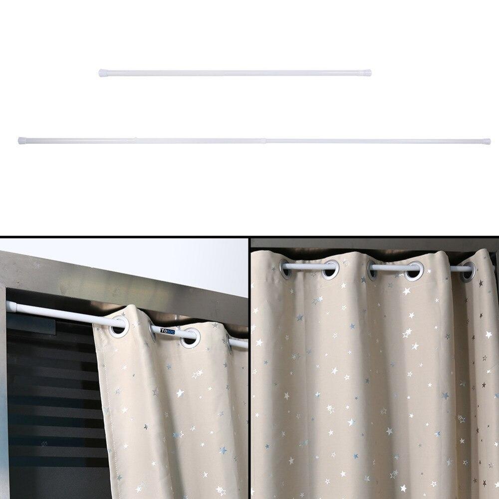 Shower curtain tracks prices - Extendable Spring Telescopic Shower Bathroom Window Curtain Rail Loaded Pole Rod 105 200cm China
