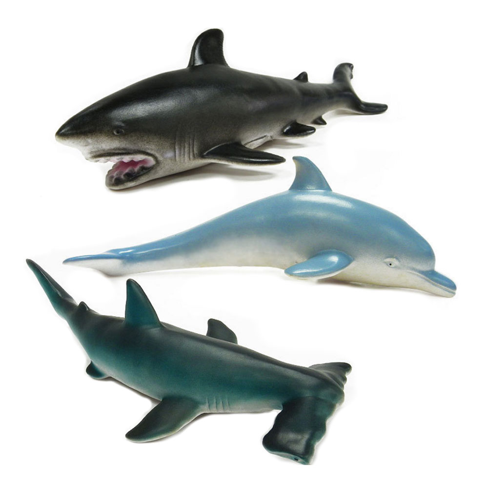 BOHS Shark Marine Animals Simulation Soft Model Toy Gift,30CM, 3PCS zxz 8 type amazing marine organism animals model toy classic plastic whale shark dolphin sea lions toys for boys collection gift