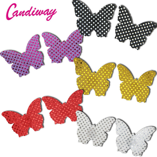 10pair Butterfly Adhesive Nipple Covers Pads Body Breasts Stickers Milk Paste Anti Emptied Chest Invisible Intimates Bra