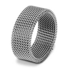 Men's Stainless Steel Mesh Ring