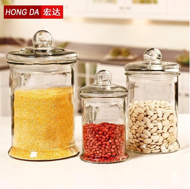 large glass jars storage bottles jars with lid for food 5000ml3000ml - Large Glass Jars With Lids