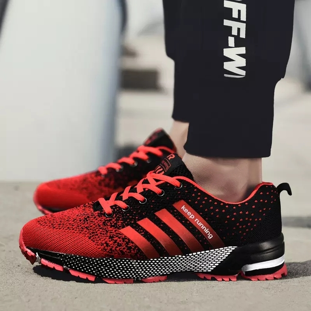 2019 Sport Running Shoes Men Couple Casual Shoes Men Flats Outdoor Sneakers Mesh Breathable Walking Footwear Sport Trainers