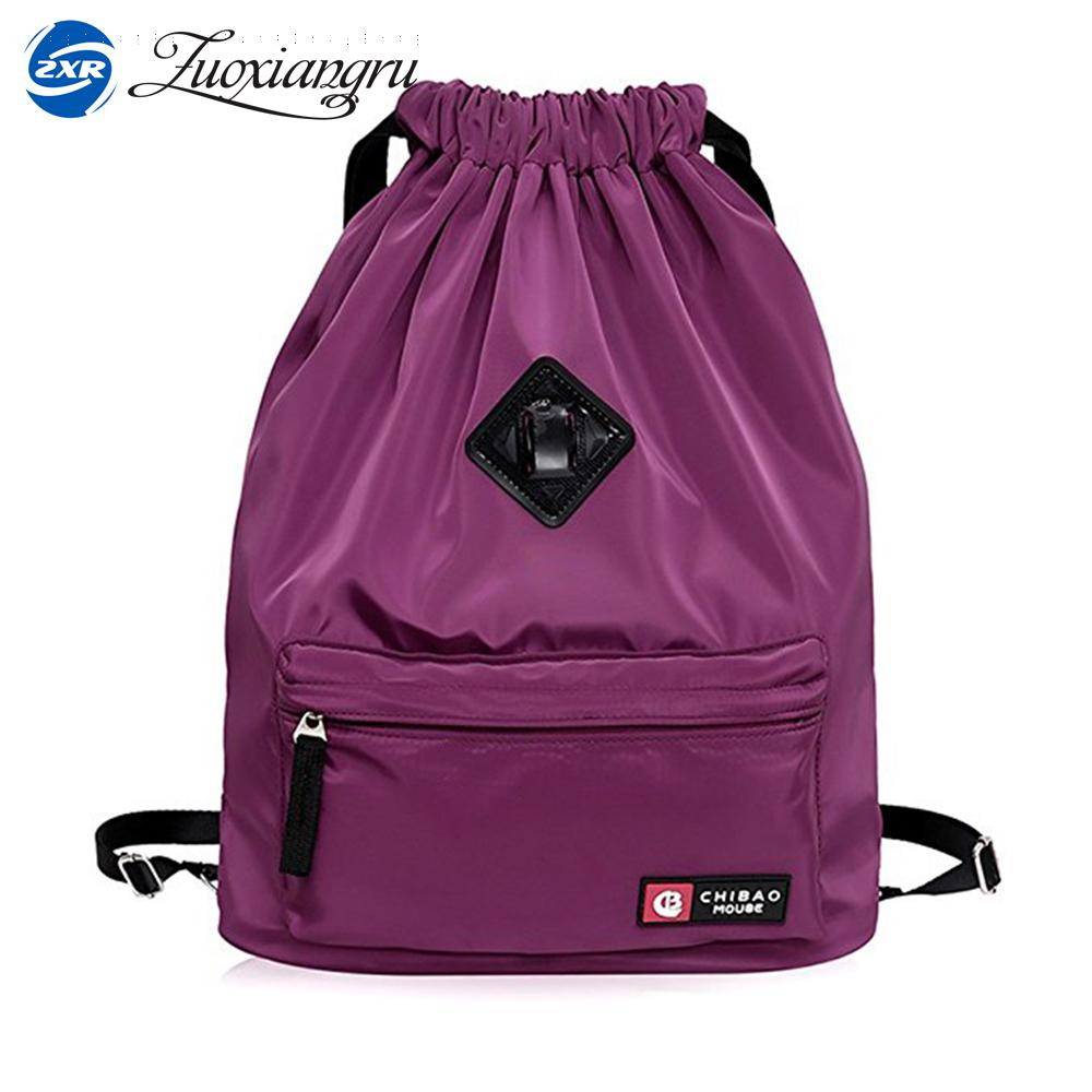 Zuoxiangru Drawstring Bag Festival Backpack Nylon For Gym Sports Fitness Travel Yoga Women Girls Student Bag Travel Backpack
