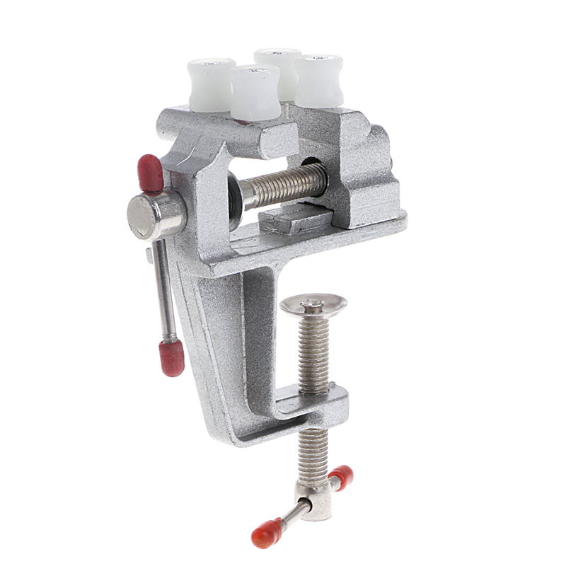 1 Pc Aluminum MiniAture Clamp Mini Vise Tool Aluminum Small Jewelers Hobby Clamp On Table Bench Vice New 35x17x140mm