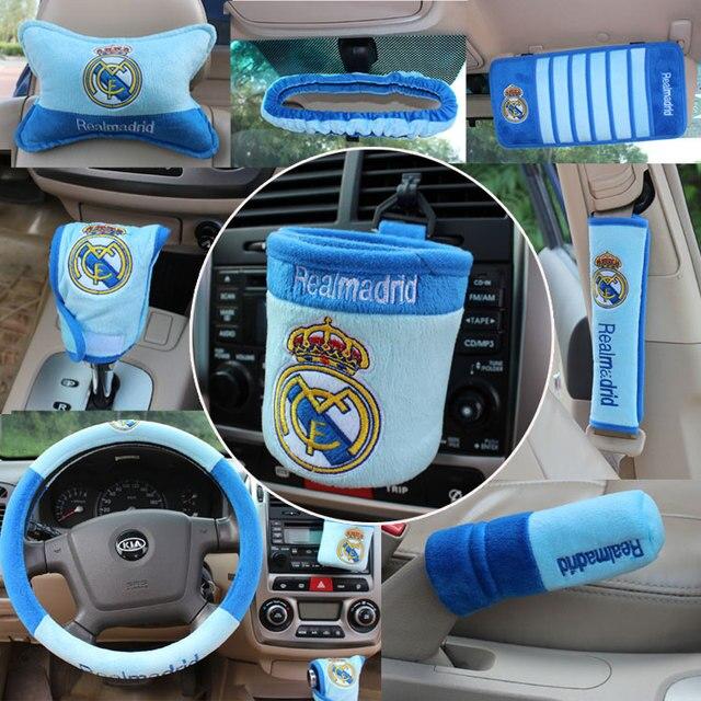 10pcs /set Football team pattern Automotive supplies automotive interior decoration team set the gear set