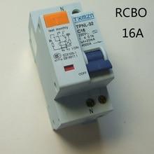 DPNL 1P+ N 16A 230V~ 50 HZ/60 HZ автоматический выключатель с защитой от перегрузки по току и утечки RCBO