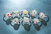 Womans ring jewelry rose gold Cute expression pack creative smiley cartoon Costume ringen wave ringsB2236