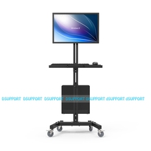 Moving Sit-Stand Desk Workstation TV Mount PS Stand Medical Equipment Trolley Computer Host Keyboard Holder Bracket