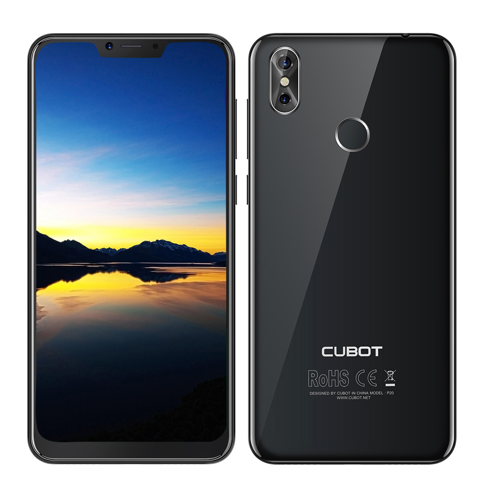 Refurbish Cubot P20 4G Smartphone Android 8 Notch Screen 6.18 Inch 4+64GB ROM MT6750T Octa Core 4000mAh 20MP+2.0MP Mobile Phone