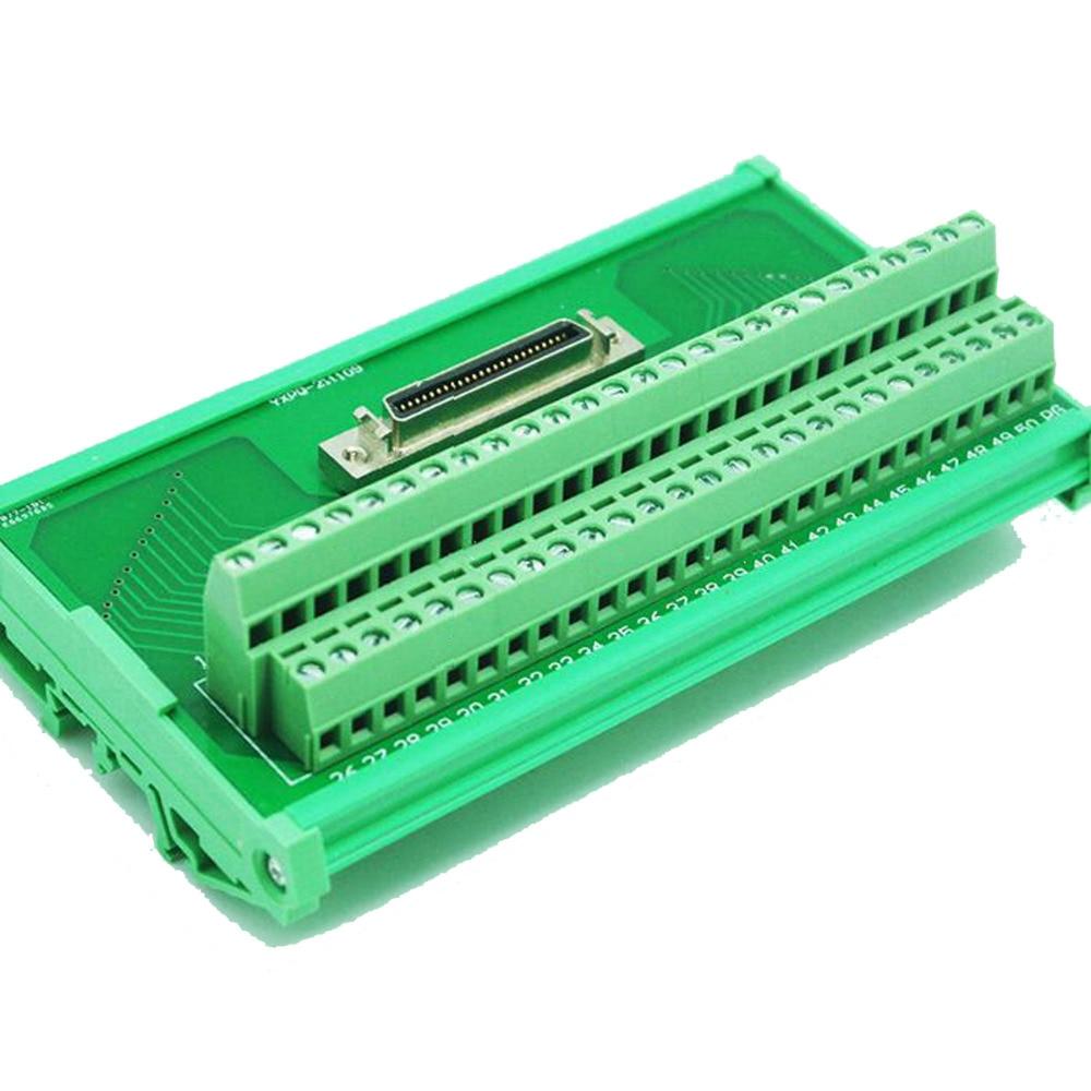 Здесь можно купить  SCSI 50 Pin Connectors Data Acquisition Card Screw Terminal Blocks Breakout Board  Электротехническое оборудование и материалы