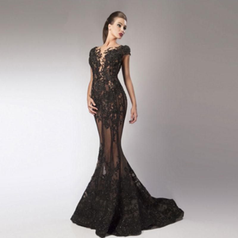 Great Gabsty Black Long Formal Dresses