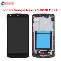 For LG Google Nexus 5 D820 D821 Display Touch Screen LCD With Frame Replacement Digitizer Assembly