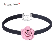 2017 Flowers Ribbon Fabric Handmade Collar Necklace Choker Design Fashion Jewelry For Women Girl Birthday or Wedding Gift NM3647