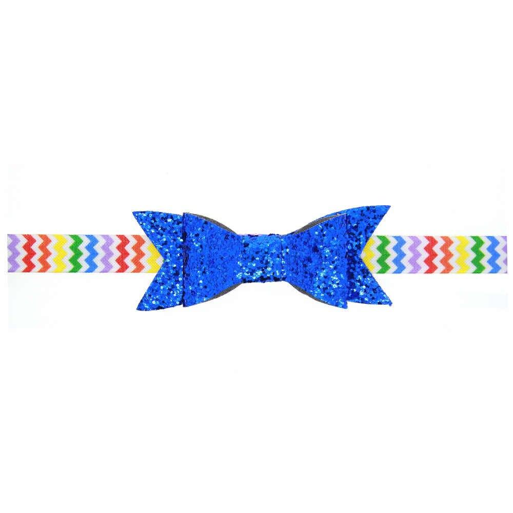 1 peça MAYA STEPAN Novas Crianças Lantejoula Bow Tie Acessórios Da Banda Cabeça de Cabelo Corda Cabelo Do Bebê Recém-nascido Headband Headwrap Headwear