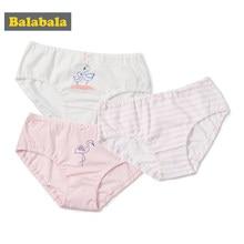 e10f59491 Balabala 3-Paquete de impresión de ropa interior para una chica de algodón  suave de la pubertad ropa interior de niña niño niños.