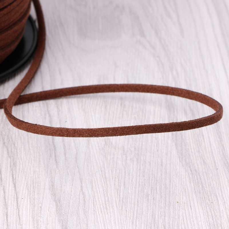 3mm 90 m/roll Faux Suede Cord DIY Corda De Couro Corda Tópico para Fazer Jóias