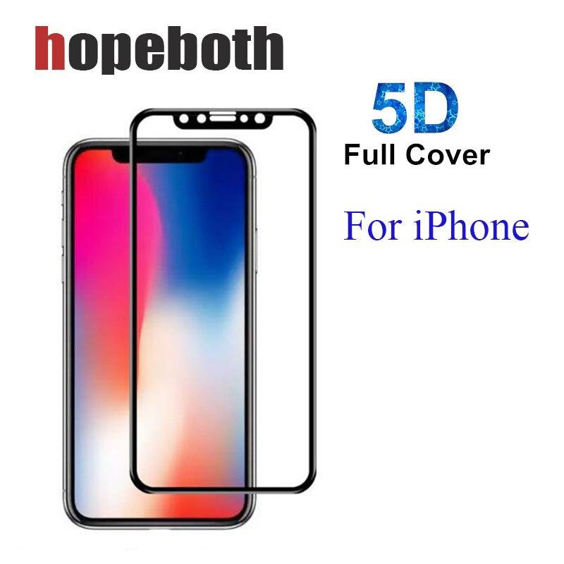 Top qualité couverture complète protecteur d'écran pour iPhone X 8 7 6 5D verre trempé pour iPhone6 7 8 Plus Film de verre protecteur 50 pcs/lot