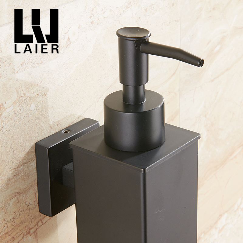 Image 5 - Stainless steel soap dispenser hand Liquid Soap Dispenser squeeze wall mounted hotel bathroom kitchen square design-in Liquid Soap Dispensers from Home Improvement